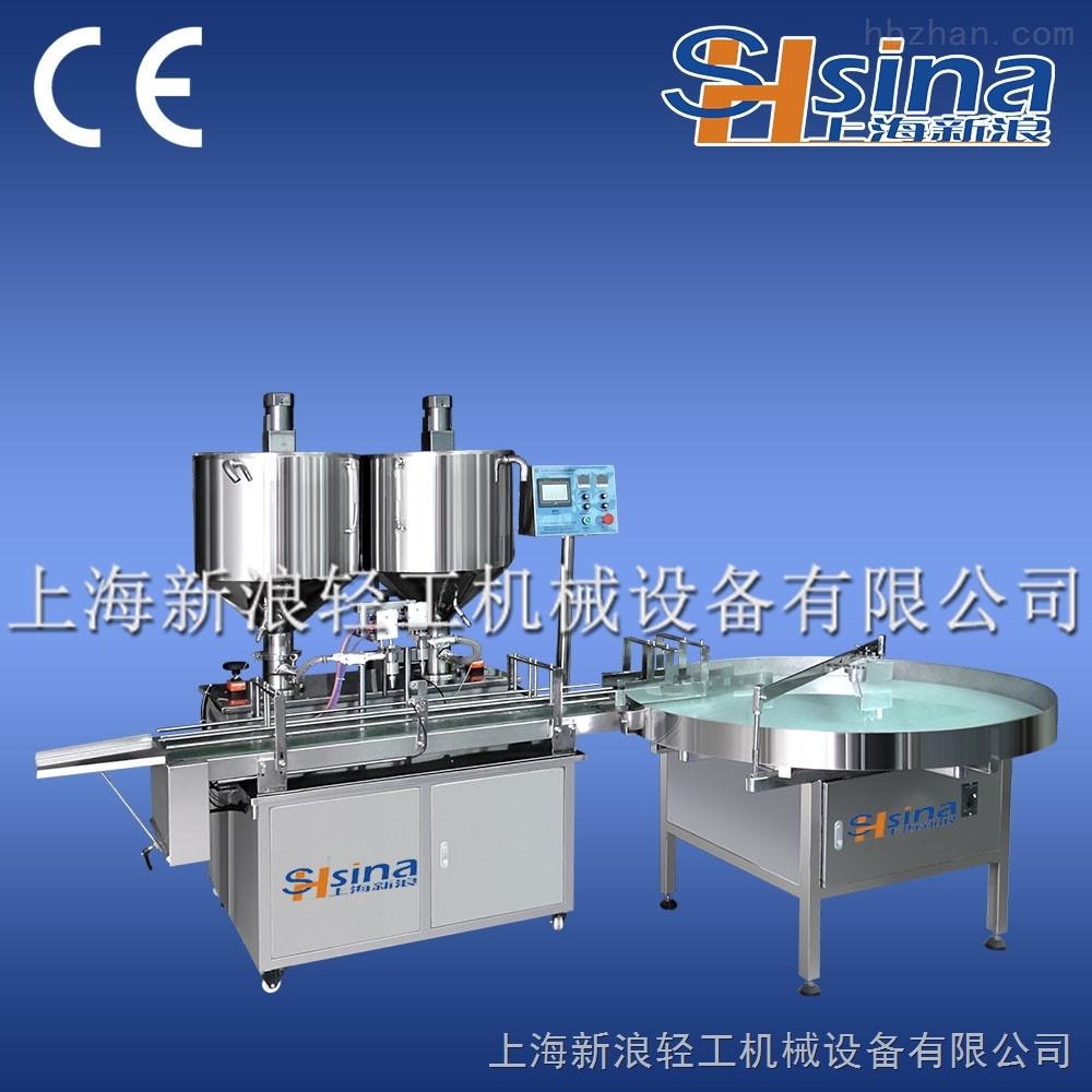 上海新浪單頭膏體灌裝機設備