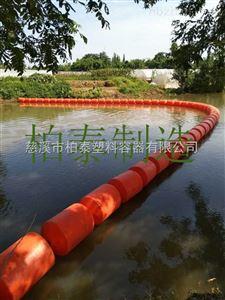 河道垃圾处理拦截浮筒塑料浮筒厂家