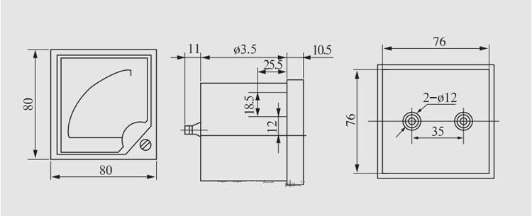 产品库 仪器仪表(老) 电线电缆 其它 6c2-v安装式板表 6c2-v安装式板