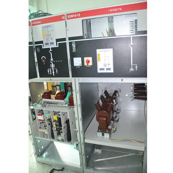 "XGN15-12(SF6)固定式六氟化硫高压开关柜    XGN15-12(L)型户内交流高压六氟化硫环网开关设备(以下简称""环网柜"")是新一代以六氟化硫负荷开关作为主开关而整柜采用空气绝缘的、适用于配电自动化的、既紧凑又可扩充的金属封闭开关设备。 环网柜具有结构简单、操作灵活、联锁可靠等特点,对各种不同的应用场合、不同的用户要求均能提供令人满意的技术方案。传感技术和zui新保护继电器的采用,加上先进的技术性能及轻便灵活的装配方案。可以完全满足市场不断变化的要求。 本系列环网柜遵循"