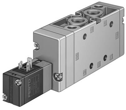 festo单控两位五通电磁阀,14945-mvh-5-3/8-b